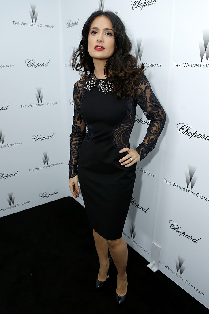 Salma Hayek attended a Weinstein Company pre-Oscars party.