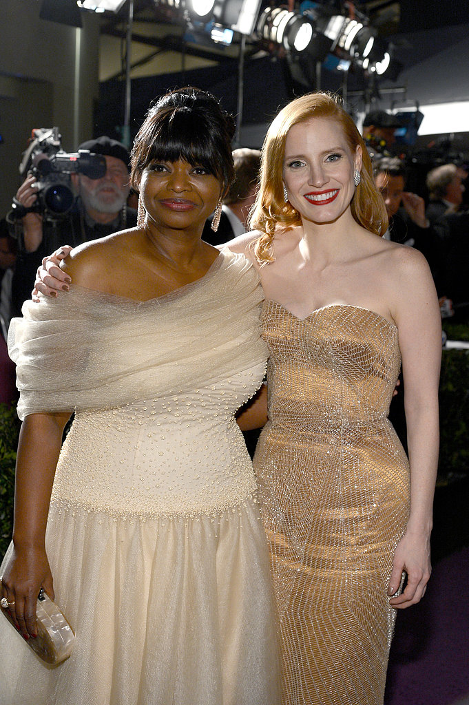 Octavia Spencer and Jessica Chastain struck a pose at the Governors Ball.