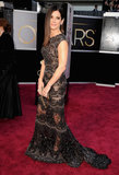 Sandra Bullock on the red carpet at the Oscars 2013.