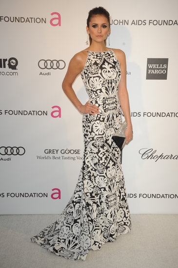 Nina Dobrev at Elton John's Oscars Afterparty | Pictures