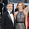 George Clooney and Stacy Keibler Pictures at 2013 Oscars