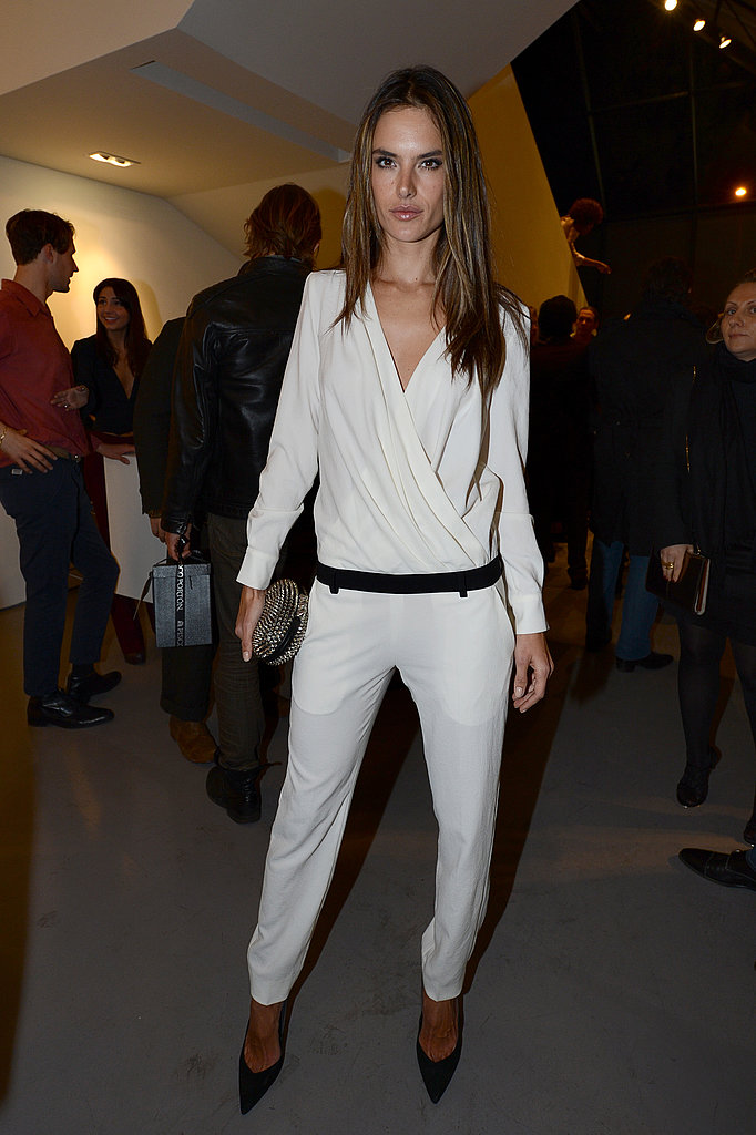 Alessandra Ambrosio celebrated the new Mario Testino exhibit at LA gallery Prism.