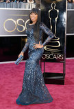 Jennifer Hudson on the red carpet at the Oscars 2013.