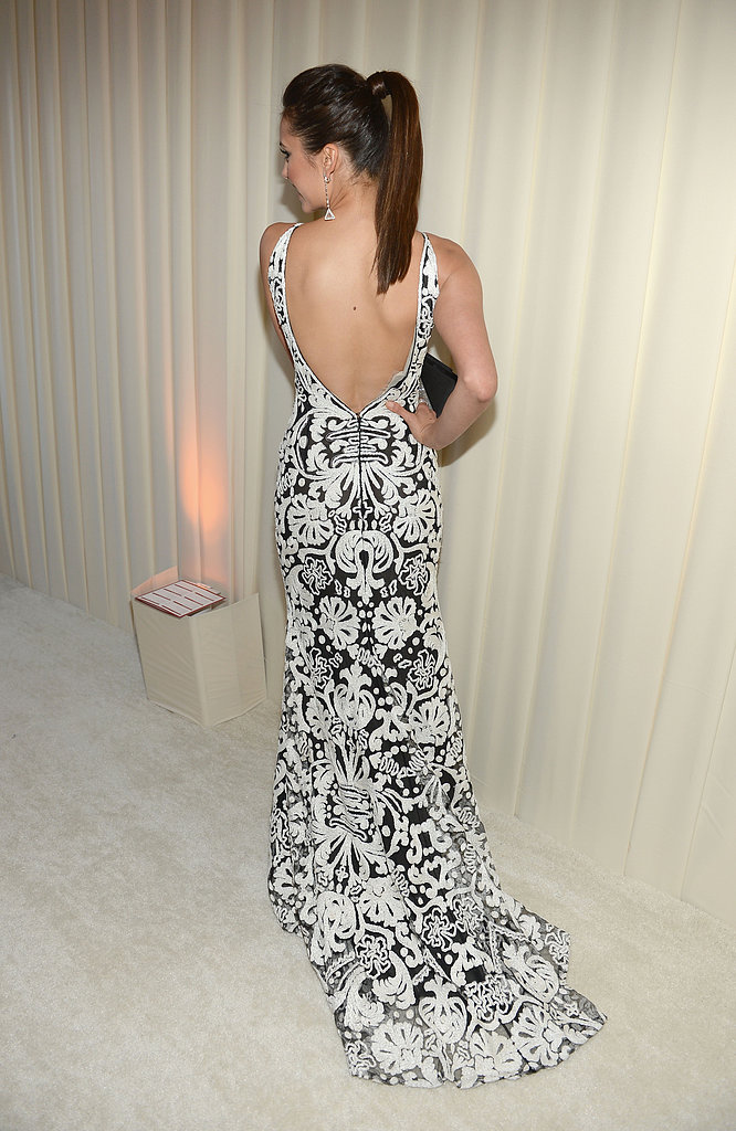 Nina Dobrev at Elton John's Oscars party.