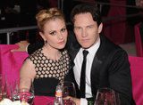 Anna Paquin and Stephen Moyer took seats next to each other at Elton John's Oscar party.