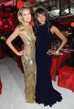 Heidi Klum and Naomi Campbell embraced at Elton John's Oscar party.