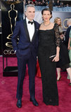 Daniel Day-Lewis and Rebecca Miller stepped onto the Oscars red carpet together.