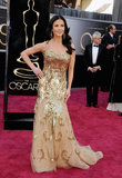 Catherine Zeta-Jones on the red carpet at the Oscars 2013.