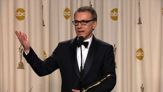 Christoph Waltz Talks Big Oscars Win in the Press Room