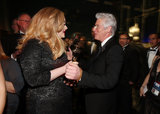 Adele Adkins and Richard Gere backstage at the 2013 Oscars.