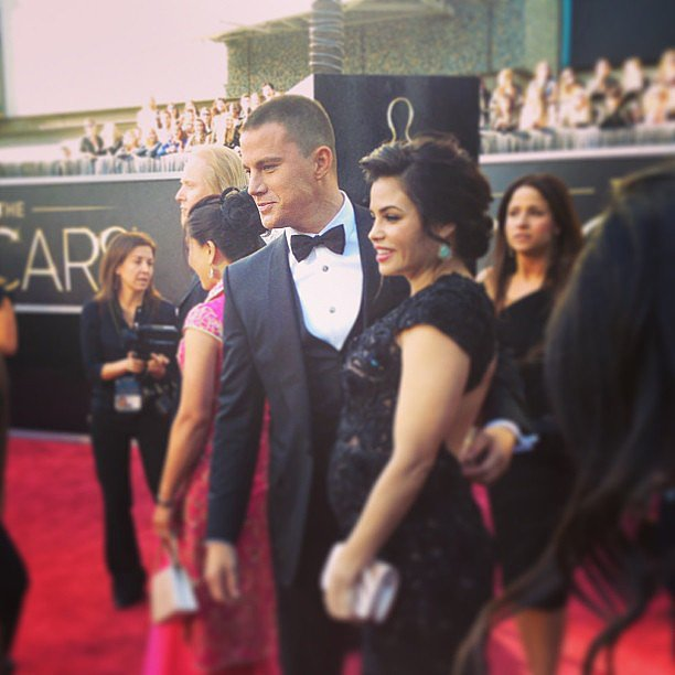 Channing Tatum and wife Jenna Dewan stayed close at the Oscars. Source: Instagram user theacademy