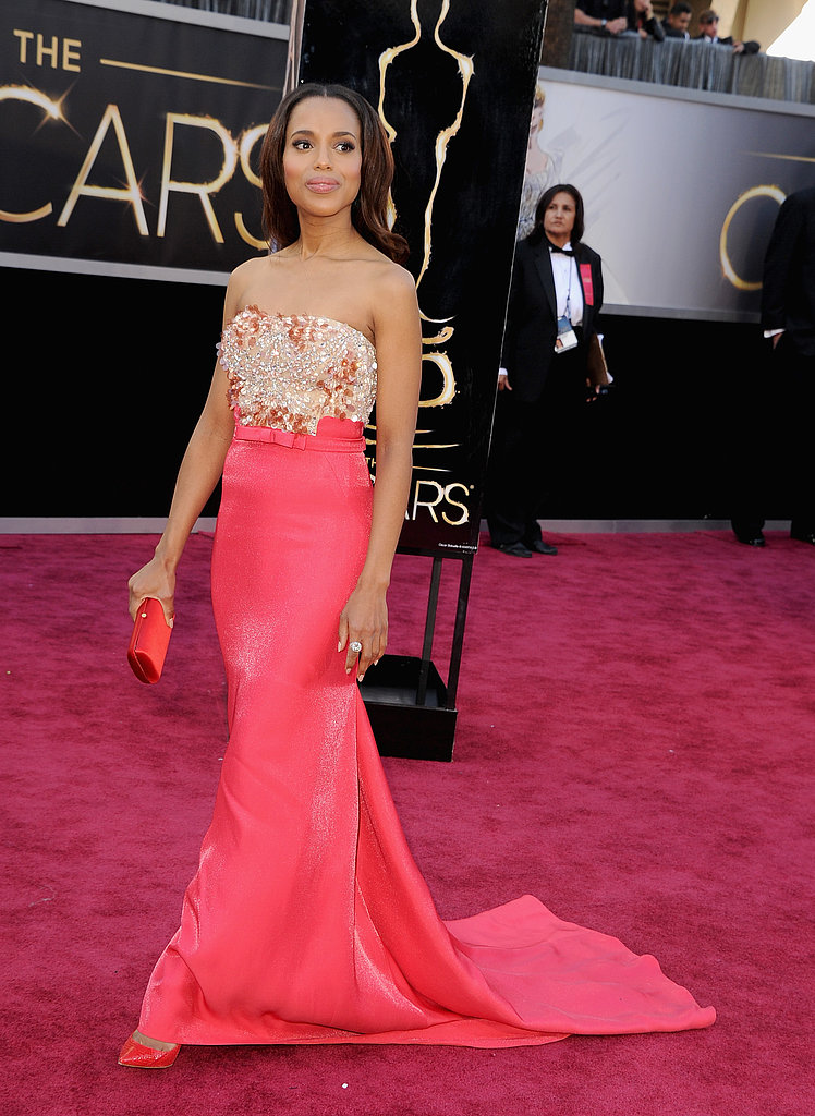 Kerry Washington on the red carpet at the Oscars 2013.