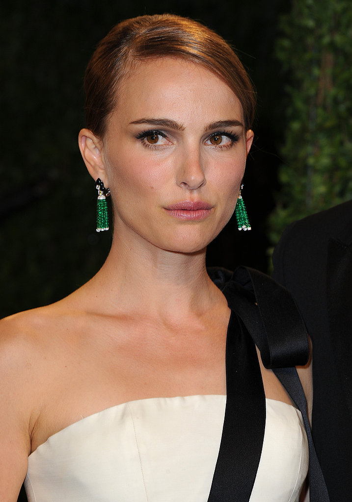 Natalie Portman attended the Vanity Fair Oscars bash.
