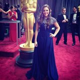 POPSUGAR Fashion reporter Allison McNamara walked the carpet in Jovani. Source: Instagram user allisonmcnamara
