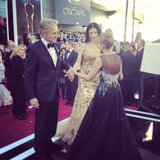 Catherine Zeta-Jones shared a glitzy moment with Kristin Chenoweth. Source: Instagram user theacademy