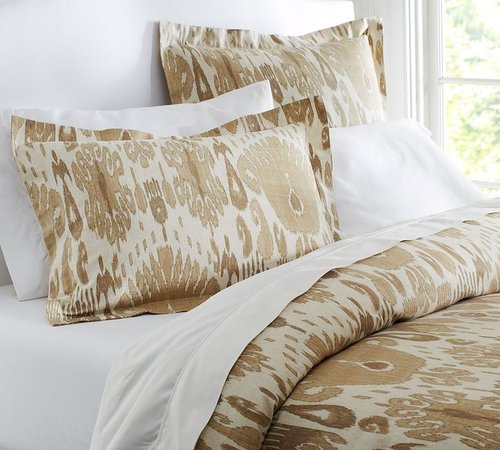 Vivian Ikat Duvet Cover & Sham - Neutral