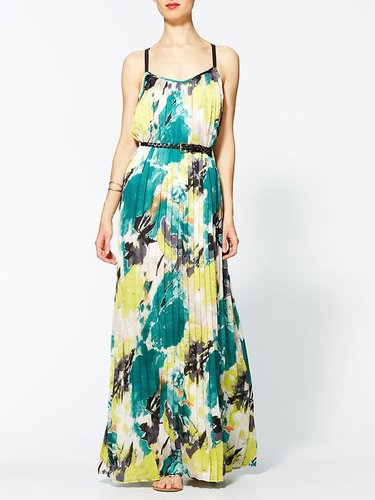 Sabine Santorini Pleated Maxi Dress