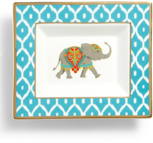 Elephant Rectangular Ceramic Plate
