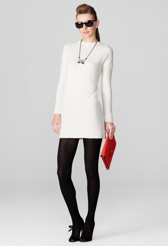 Milly Sweater Dresses - White Moritz Sweater Dress