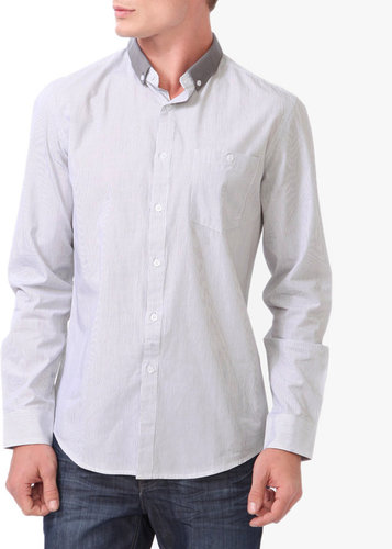 21 MEN Vertical Striped Button Down
