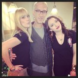 Andy Dick stopped by 2 Broke Girls. Source: Instagram user bethbehrsreal