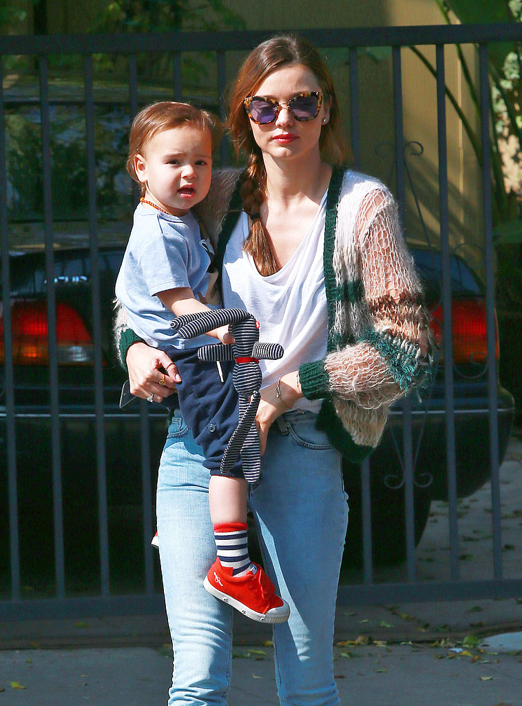 Miranda Kerr Hangs With Flynn After Going Green With Orlando