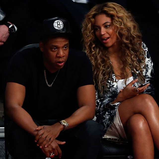 Beyonce and Jay-Z Pictures at NBA All-Star Game in Houston
