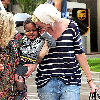 Charlize Theron With Jackson Before His Birthday
