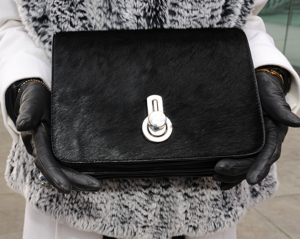 Nothing says glamorous like a textural calf-hair bag.