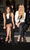 Caroline Flack and Zara Martin at sass & bide