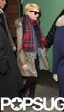 Michelle Williams left Good Morning America in NYC.
