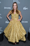 Christa B. Allen channeled her inner Belle in an embroidered gold baroque dress by Rafael Cennamo.