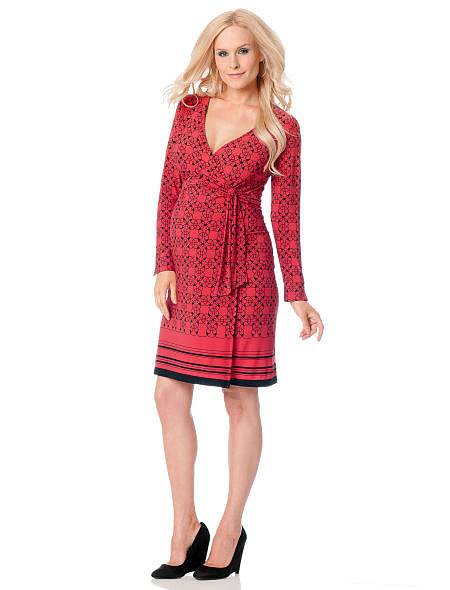 It doesn't have to be Valentine's Day to don a red dress like this long-sleeved version from A Pea in the Pod ($100).