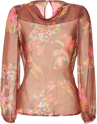 Matthew Williamson Multicolor Sheer Silk Top