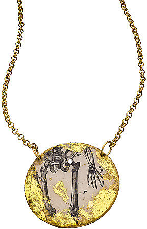 Evocateur Skeleton Legs Pendant Necklace