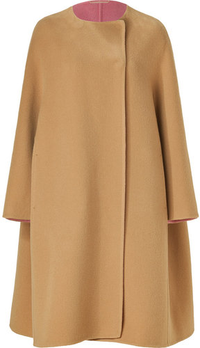 Jil Sander Camel Oversized Wool Coat