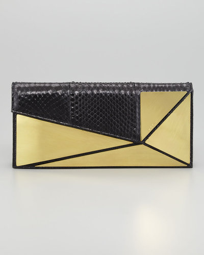 Kotur Marcil Plated Snakeskin Clutch Bag
