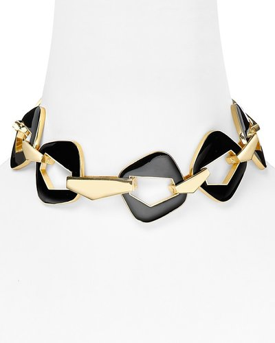 Belle Noel Enameled Modernista Necklace, 17.75""