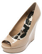 Jessica Simpson Flower Patent Wedge