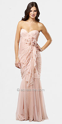 Pink Sheer Mermaid Evening Dresses from Mignon