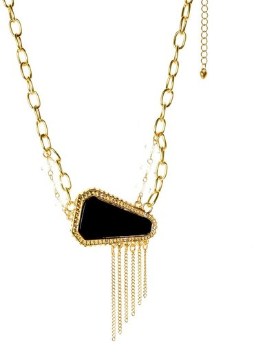 Belle Noel By Kim Kardashian Chain Necklace with Resin Stone