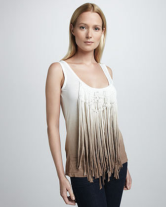 Young Fabulous and Broke Anika Ombre Fringe Tank