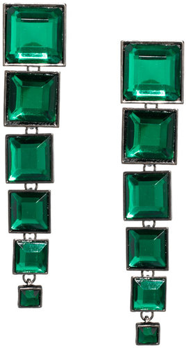 ASOS Articulated Gem Square Drop Earrings