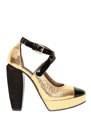 Marni - 130mm Ayer Patent Toe Pumps