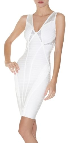 Herve Leger Versa Beaded Bandage Dress
