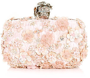 Alexander McQueen Flower embroidered clutch