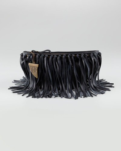House of Harlow Hayden Fringe Clutch Bag