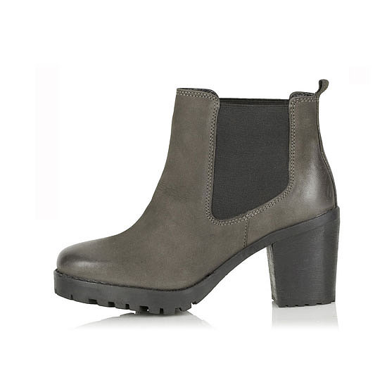 Last season's must-have pull-on ankle boot in this season's favourite colour. Sold. Boots, approx $105, Topshop