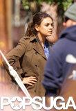 Mila Kunis Gets Serious on Set in Her Scrubs