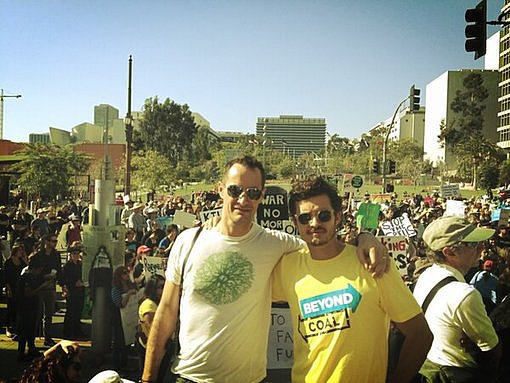 Orlando Bloom attended a climate rally in Australia. Source: Twitter user MirandaKerr